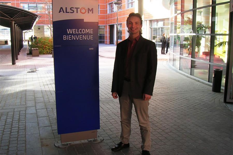 e stage van Gregory Rudoy, analist engineer bij ATM, vond plaats bij het grote Franse bedrijf ALSTOM